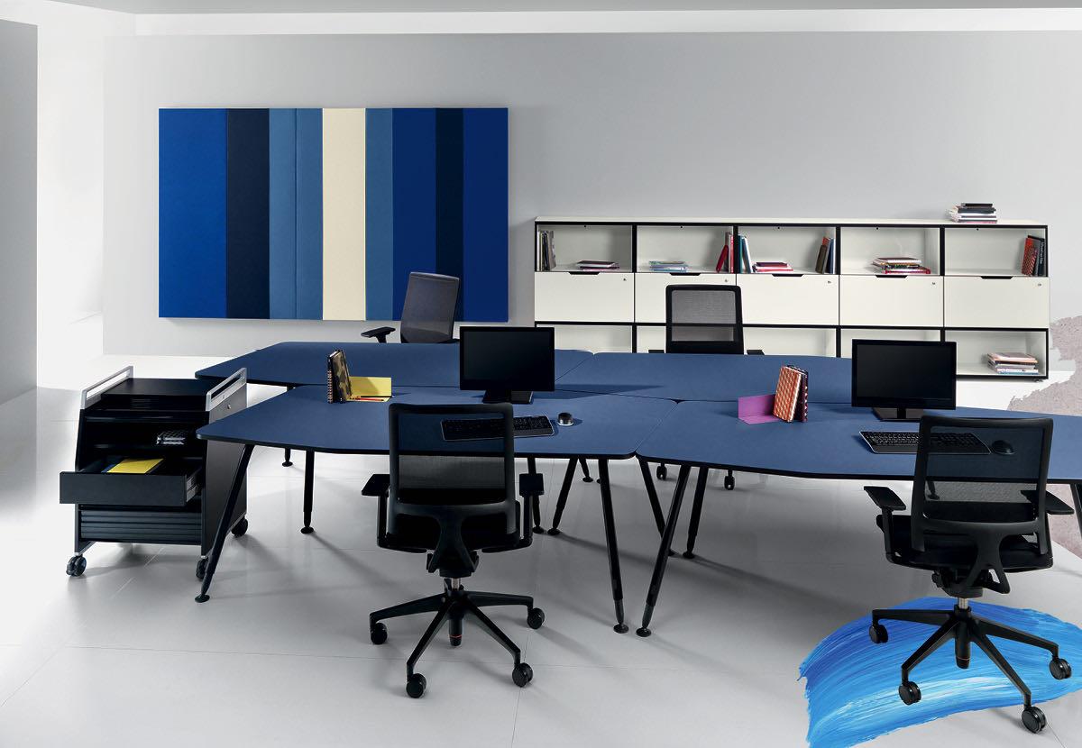 bend produkt tischsystem tische organisation sessel blau moebel hoehenverstellbar