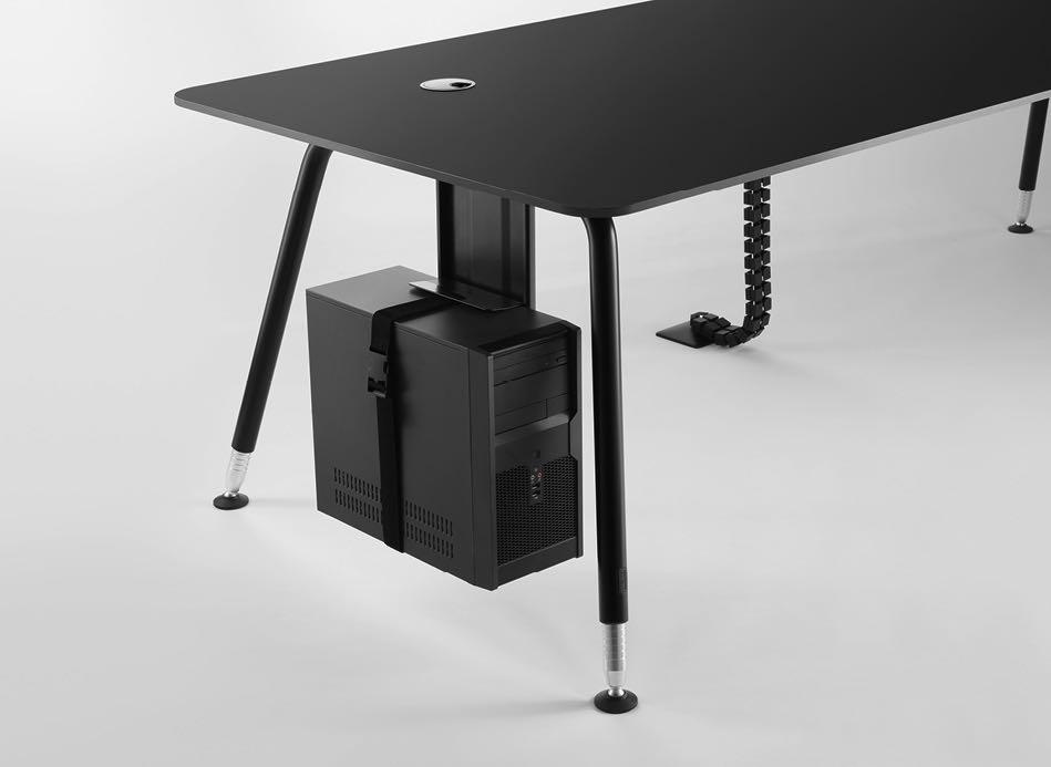 bend tischsystem produkt braun blende tisch blaha office hoehenverstellbar computer slider 6