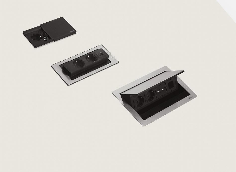 bend tischsystem produkt braun blende tisch blaha office steckdosen lan elektro organisation slider 7