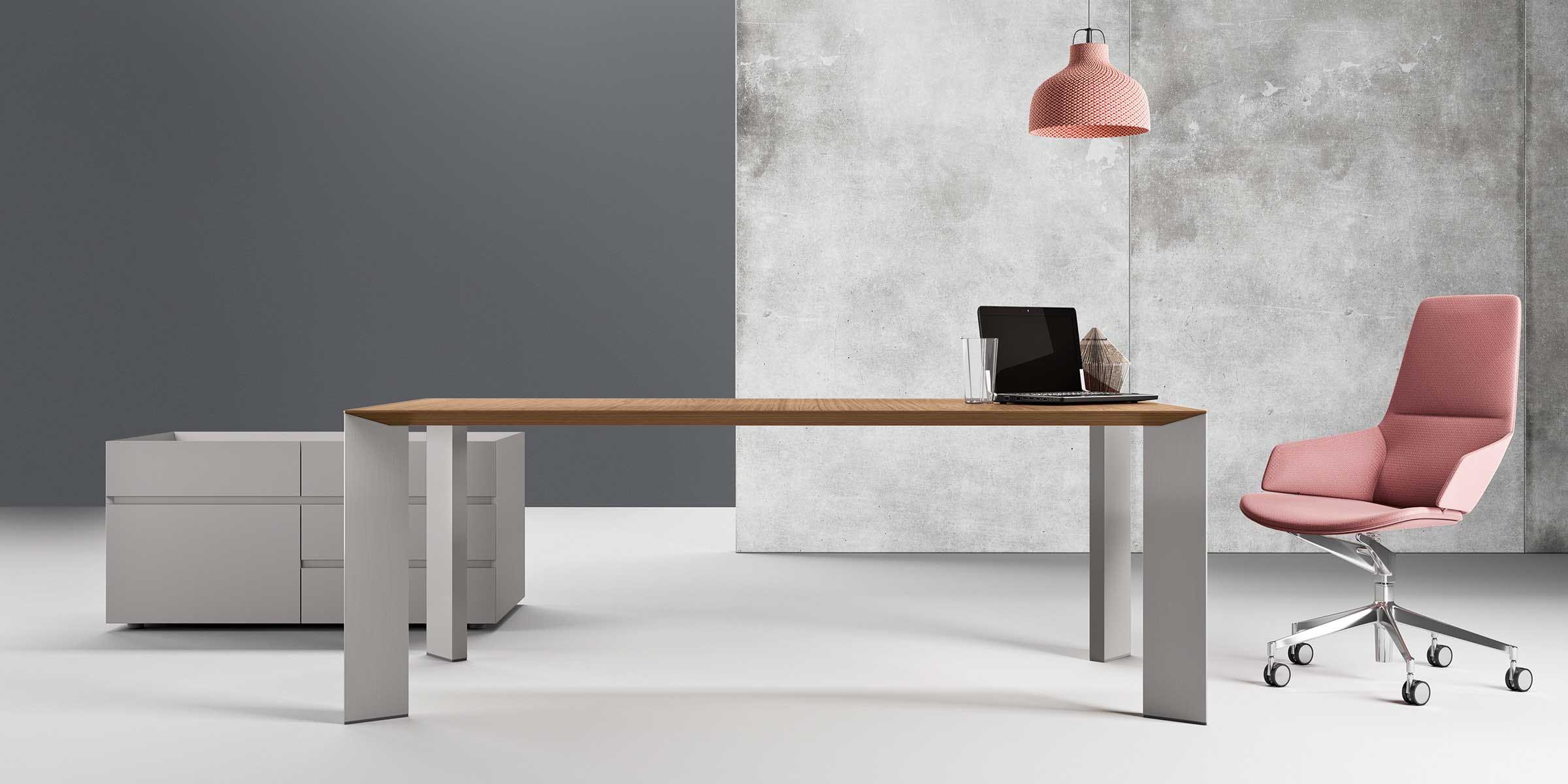 blaha buero office schlicht beton elegant arbeitsraum paper
