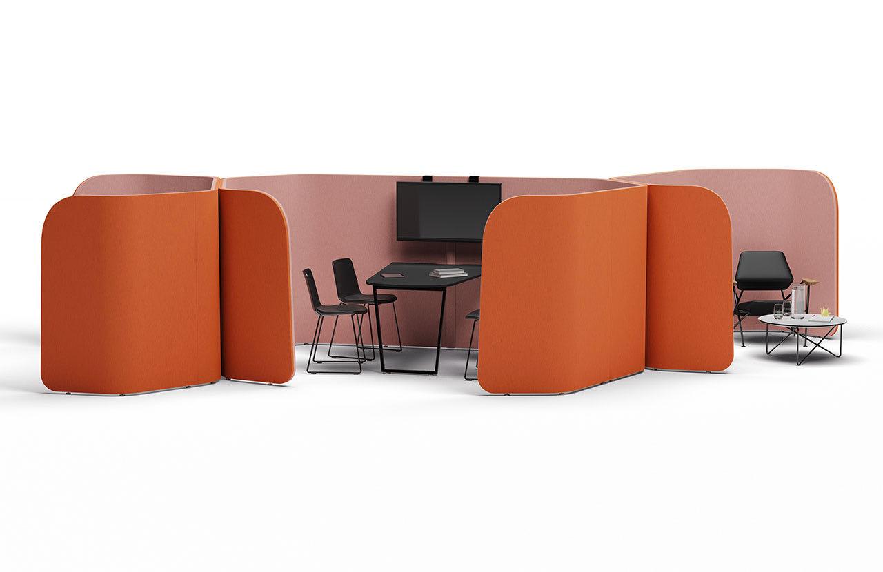 blaha casoni join slider raumtrenner orange schreibtisch sessel 1