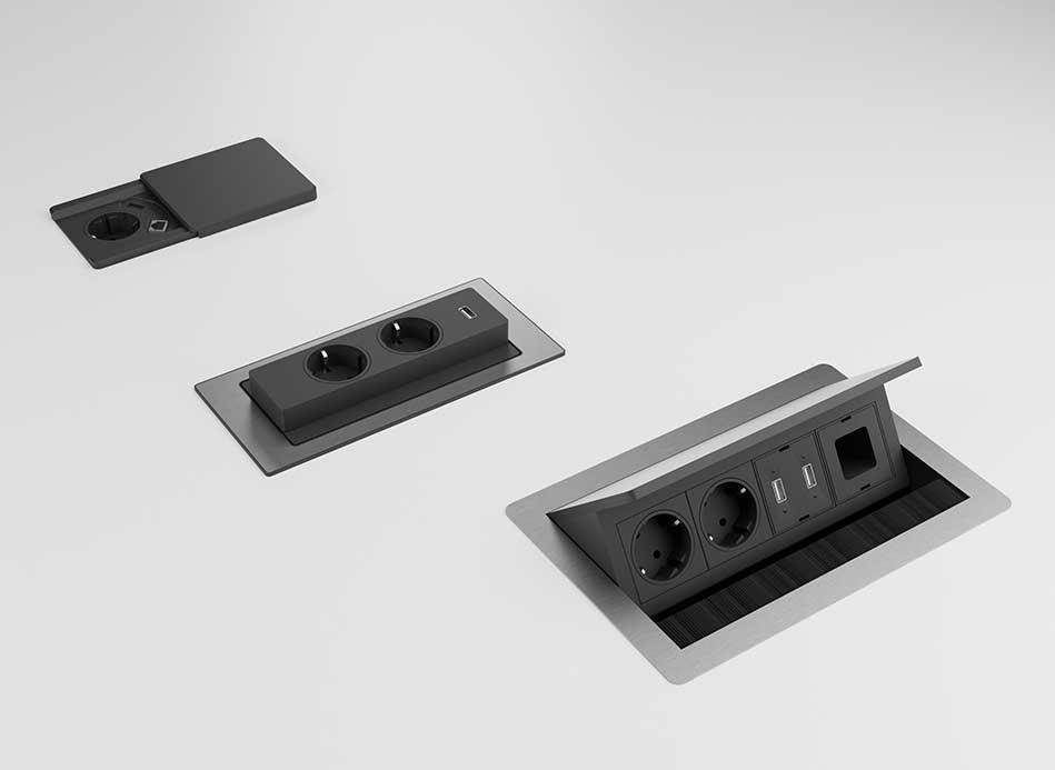 buero blaha evolution tischsysteme elektrifizierung kabelsalat ordnung steckdose slider 03 02