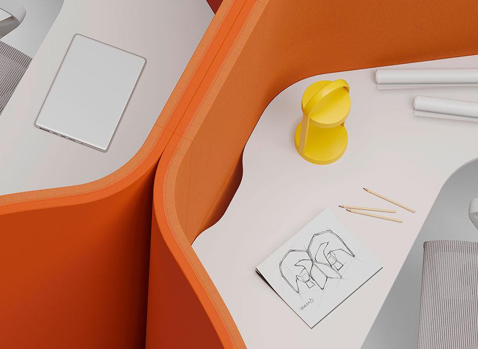 casoni blaha buero office slider schreibtischsessel raumtrenner orange elemente 949x693 2