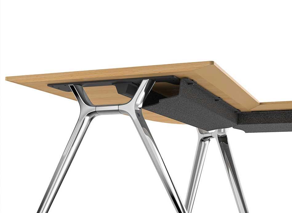 convo detail tisch unterseite metall aufbewahrung slider 1