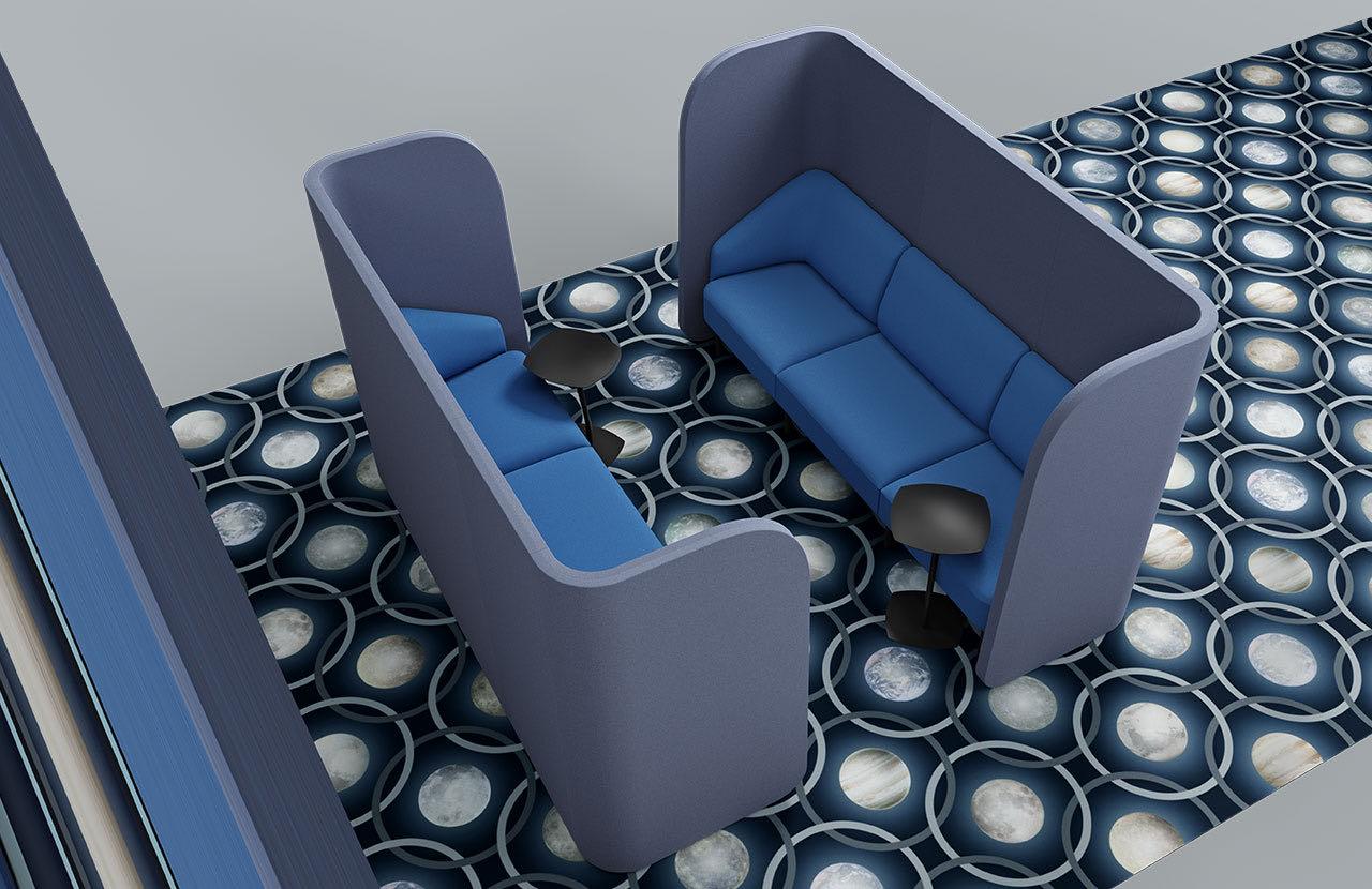 couch caletta office blaha buero grau kreise blau raumtrenner couch slider 2 4