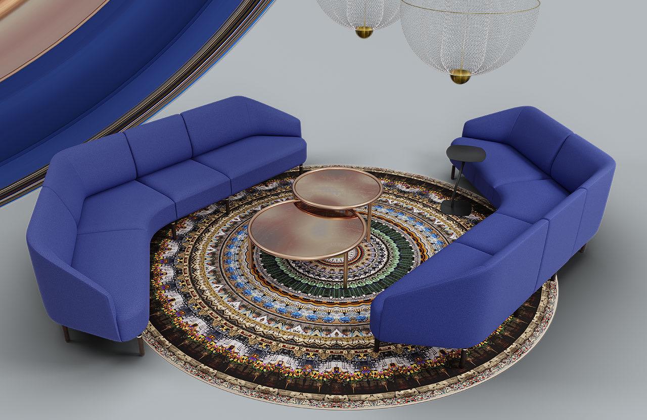 couch caletta office blaha buero muster blau couchtisch