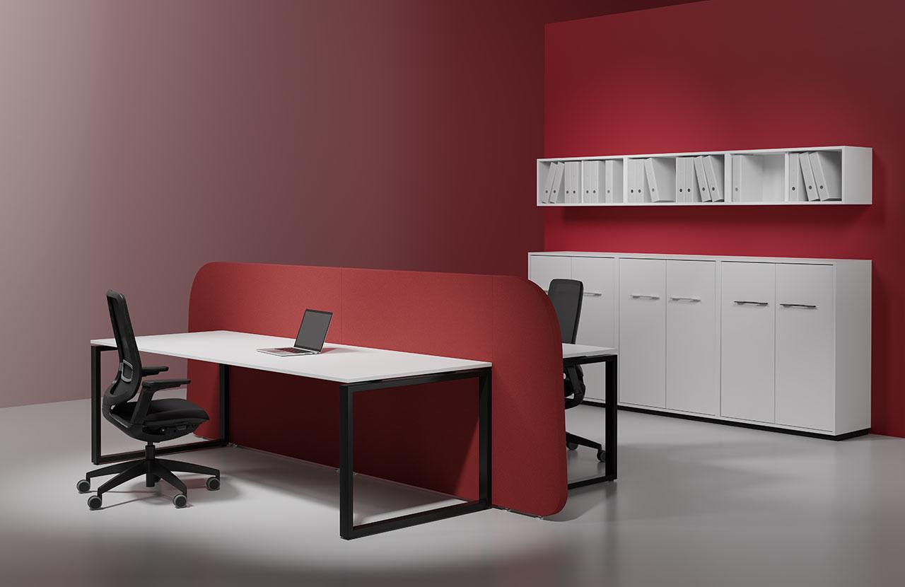 evolution blaha buero g1 tisch tischsysteme edel rot schlicht buero design