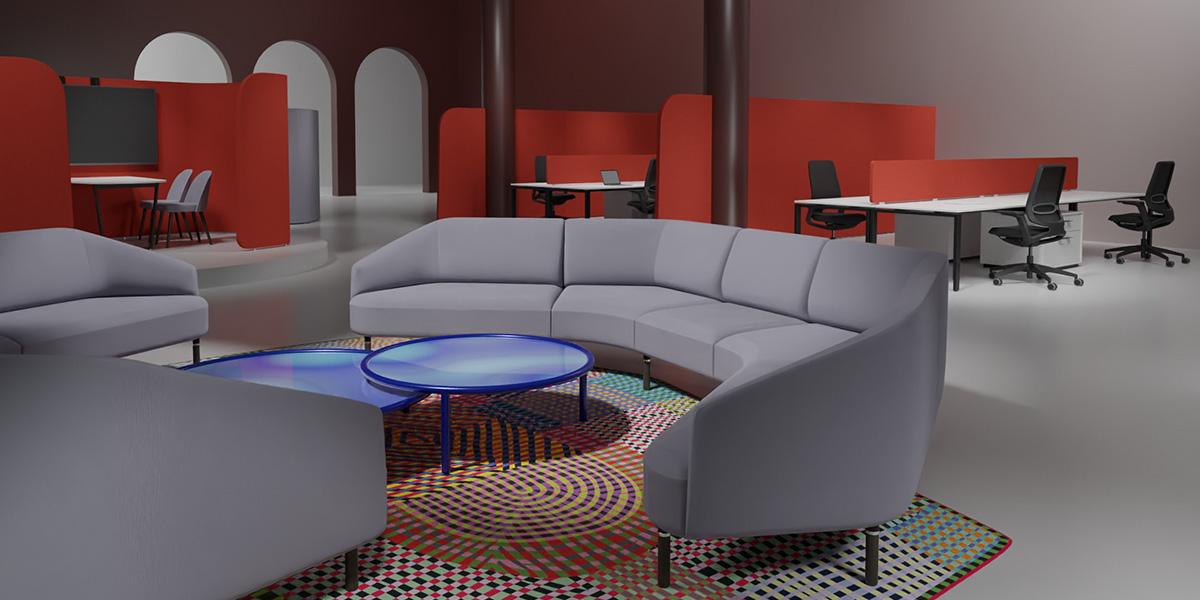 evolution open space buero blaha moebel office grau modular