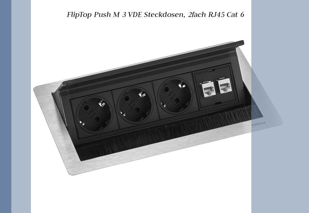 blaha office fliptop push m elektrifizierung modul evoline blaha buero office steckdosen