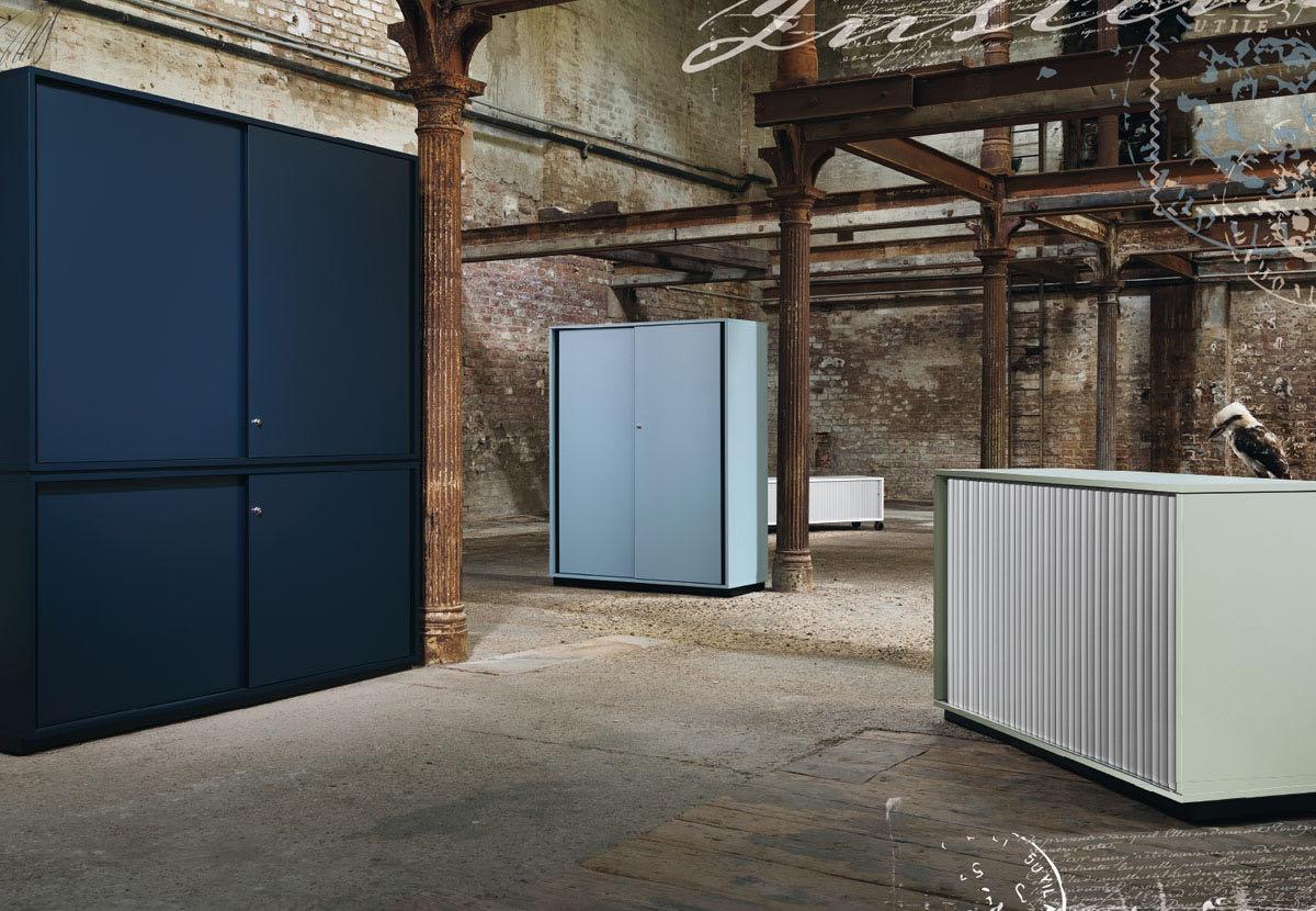 frame zacherlfabrik office blaha blau versperrbar akten plaene buero