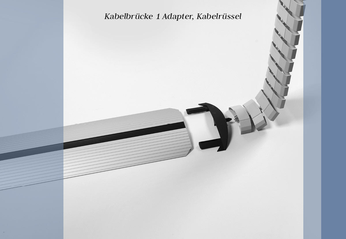 kabelmanagement blaha buero elektrifizierung office multimedia kabelsalat bruecke adapter kabelruessel
