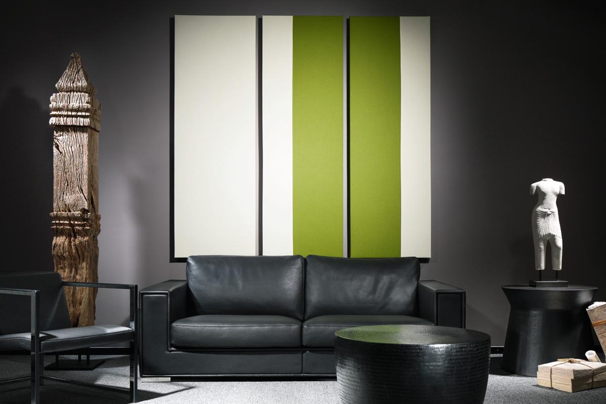 sofa blaha office buero wandelement silent pattern gruen weiss