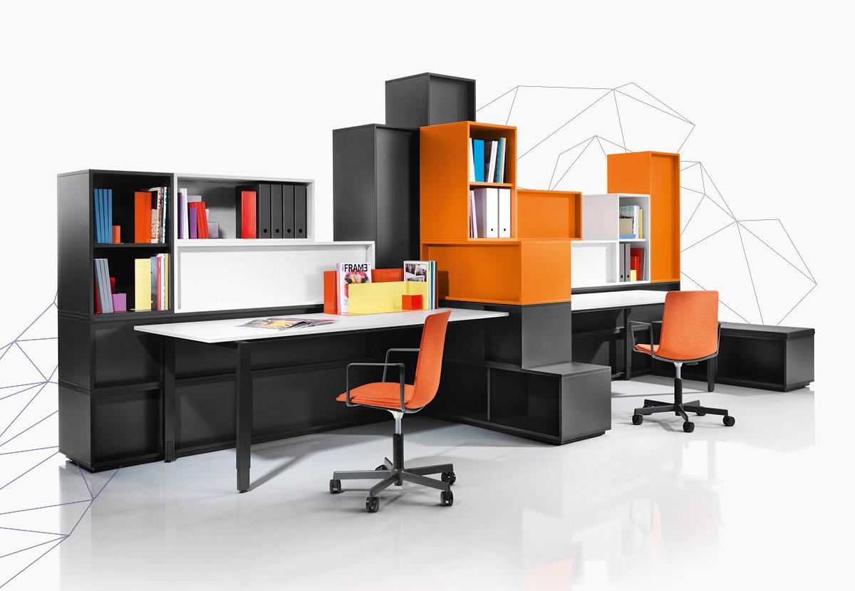 struct blaha buero office organisation schwarz orange weiss sessel schrank kasten ordnung 4 1