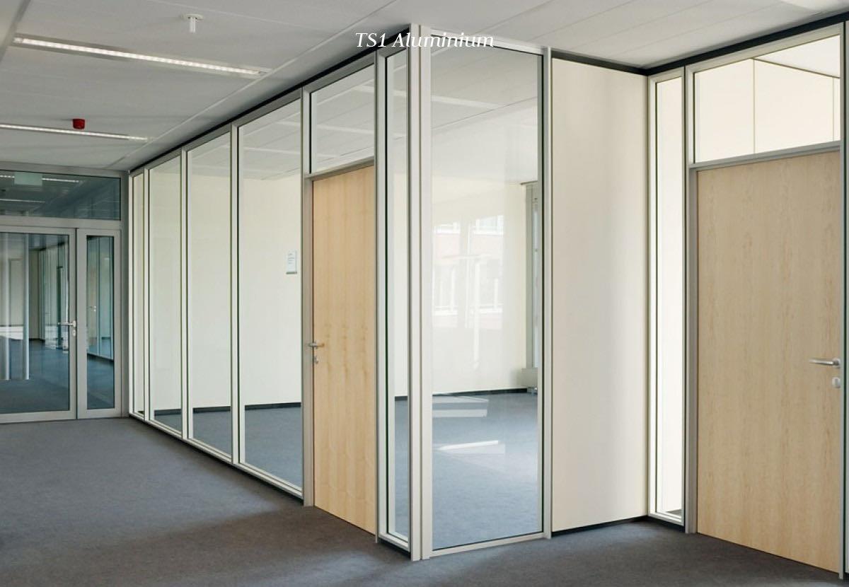 trennwand scheicher office blaha buero wand ts1 aluminium
